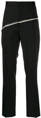 Cmmn Swdn contrast double stripe tapered trousers
