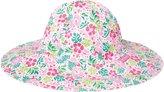 Jo-Jo JoJo Maman Bebe Floppy Sun Hat (Baby) - Pink Hibiscus-0-6 Months