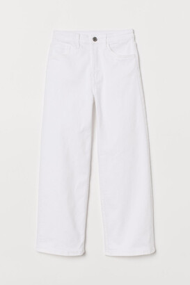 H&M Comfort Wide Fit Jeans - White
