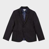 Paul Smith Boys' 7+ Years Black Wool 'Mercury' Evening Blazer