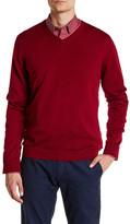 Ted Baker Long Sleeve Merino Wool V-Neck Sweater