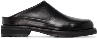 Ann Demeulemeester Round-Toe Chunky Mules