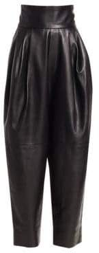 Marc Jacobs Women's Leather Blouson Pants - Black - Size 6