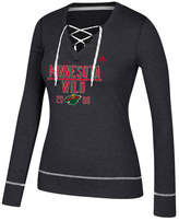 adidas Women's Minnesota Wild Skate Lace Long Sleeve T-Shirt
