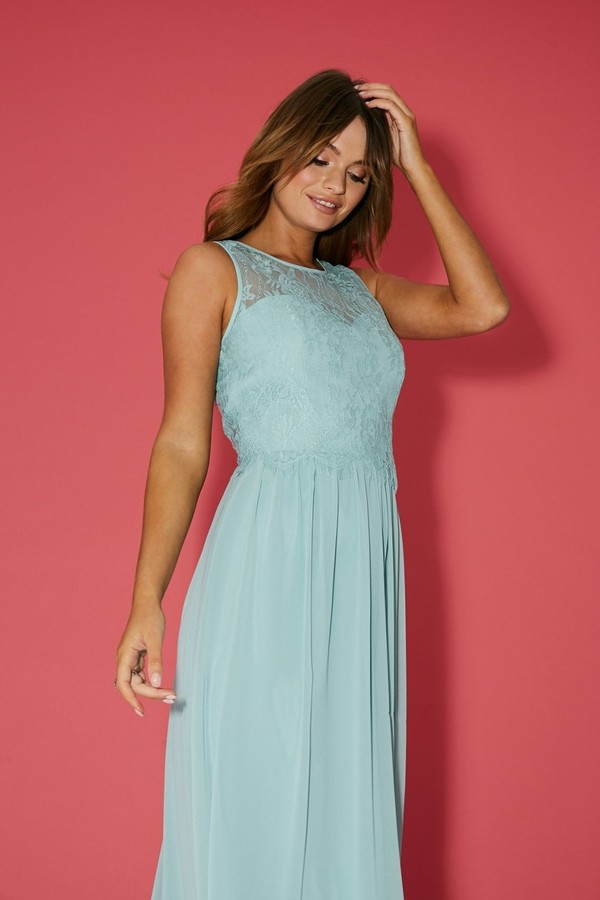 Thumbnail for your product : Little Mistress Bridesmaid Ella Thyme Lace Overlay Maxi Dress