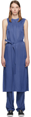 Helmut Lang Blue Viscose Mid Dress