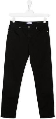 Dondup Kids TEEN logo-patch slim-fit jeans