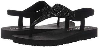 Skechers Meditation - Rock Crown (Black/Black) Women's Shoes