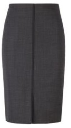 HUGO BOSS Pencil Skirt In A Traceable Stretch Virgin Wool Blend - Patterned