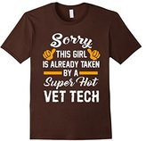 Men's Sorry This Girl Is Taken By A Super Hot Vet Tech T-Shirt 2XL