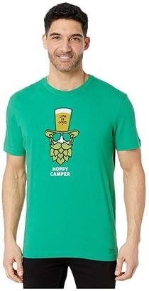 Life is Good Hoppy Camper Tee (Jungle Green) Men's Clothing
