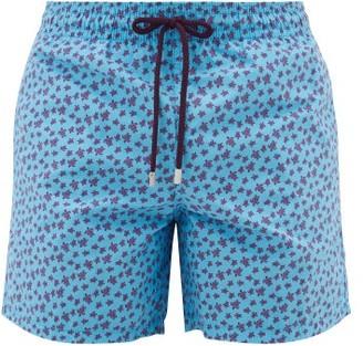 Vilebrequin Moorea Turtle-print Swim Shorts - Blue Multi