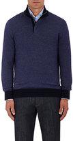 Ermenegildo Zegna Men's Cashmere-Cotton Mock Turtleneck Sweater-PURPLE