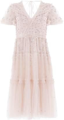 Needle & Thread Ruffled Sequin Embellished Dress