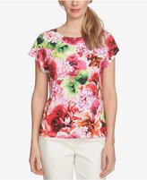 CeCe Floral-Print Top