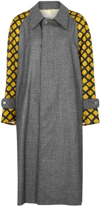 La Prestic Ouiston Marceau Panelled Wool Coat