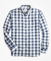 Brooks Brothers Gingham Linen-Blend Sport Shirt