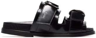 Ganni dual strap flat sandals