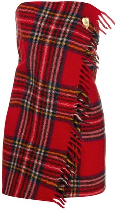Marine Serre Tartan Wrap Dress