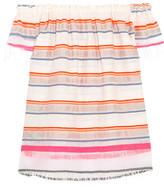 Lemlem Hayat Off-the-shoulder Striped Cotton-blend Gauze Top - White