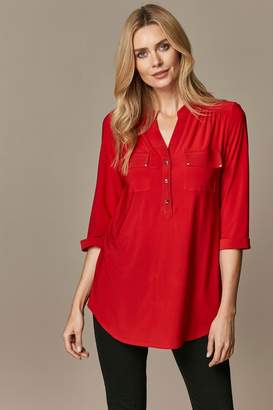 Wallis Womens Red Ity Blouse - Red