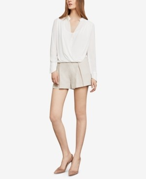 BCBGMAXAZRIA Jaklyn Draped Long-Sleeve Blouse