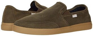 Sanuk Vagabond Slip-On Sneaker LX (Dark Brown) Men's Shoes