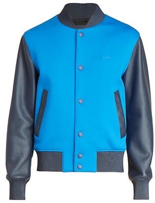 Givenchy Mix Media Leather Bomber Jacket