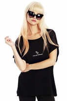 Wildfox Couture Capricorn Astrology Boy Tee in Clean Black