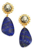 Nest Lapis Lazuli & Pyrite Drop Earrings