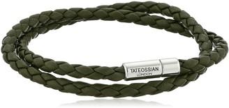 Tateossian Scoubidou Pop Silver Green Medium Double Wrap Bracelet