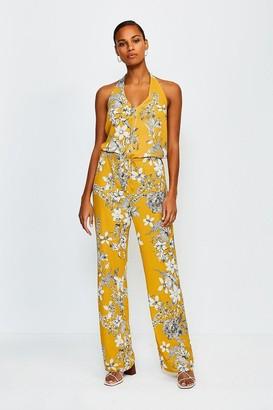 Karen Millen Floral Print Strappy Jumpsuit
