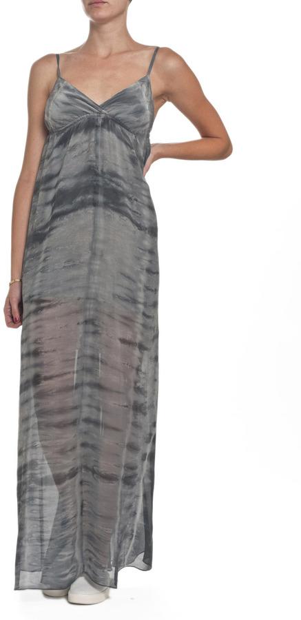 Gypsy 05 Mintaka Silk Triangle Cup Maxi Dress Charcoal