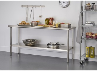 "Trinity EcoStorage 72"" x 24"" x 34.65"" Stainless Steel Table, NSF Certified - N/A"