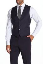Calvin Klein Plain Navy Slim Fit Suit Separate Wool Blend Vest