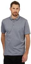 J By Jasper Conran Navy Textured Spot Polo Shirt