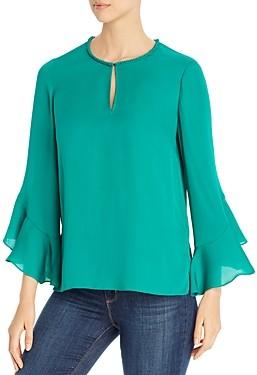 Kobi Halperin Ara Bell-Sleeve Silk Blouse