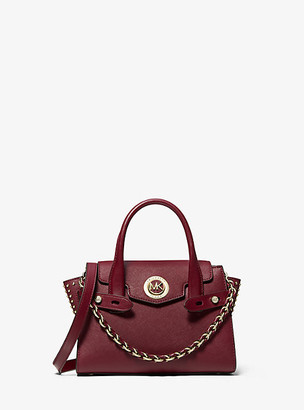 Michael Kors Carmen Extra-Small Studded Saffiano Leather Belted Satchel