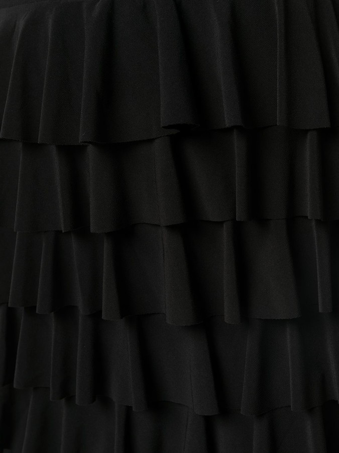 Thumbnail for your product : Norma Kamali Knee-Length Ruffled Skirt