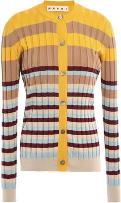 Marni Striped Ribbed Cotton Cardigan