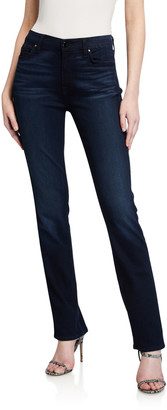 JEN7 by 7 For All Mankind High-Rise Slim Straight Jeans