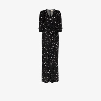 By Ti Mo Star Print Belted Jumpsuit
