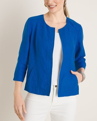 Chico's Solid Linen Jacket