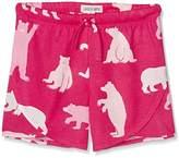 Hatley Little Blue House Girl's Tween Fuchsia Bears Short Pyjama Bottoms
