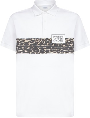 Burberry Leopard Print Polo Shirt
