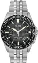 Citizen Eco-Drive 'World Perpetual A.T' Radio Controlled Bracelet's Men's Watch