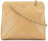 Chanel Pre Owned diamond quilted chain tote