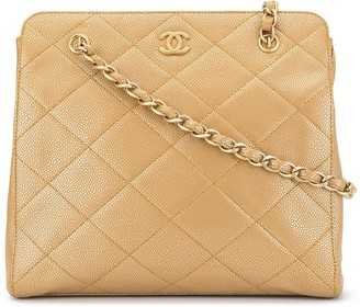 Chanel Pre-Owned diamond quilted chain tote