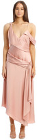 Jonathan Simkhai Fluid Satin Asymmetric Drape Gown