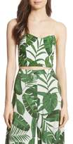 Alice + Olivia Archer Crop Silk Camisole